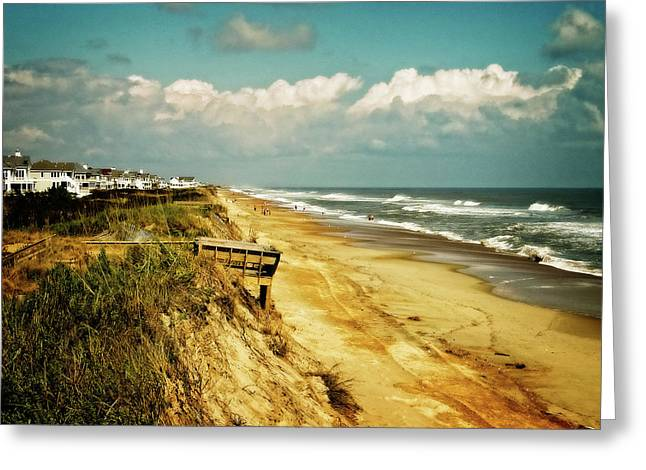 Beach At Corolla Greeting Card