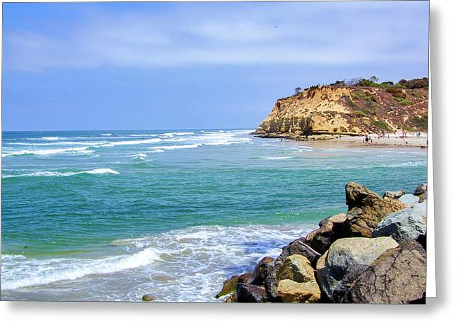 Beach At Del Mar, California Greeting Card