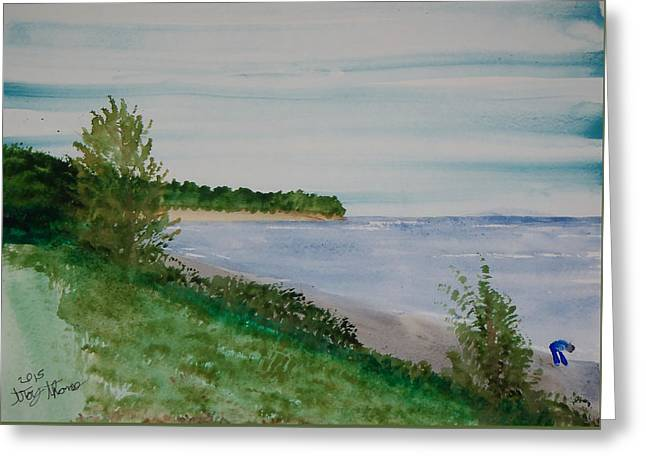 Beach At Flood Bay Lake Superior Greeting Card by Troy Thomas