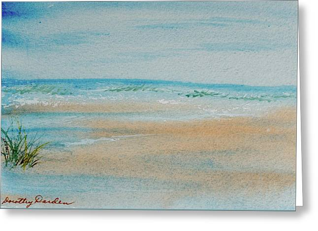 Beach At High Tide Greeting Card