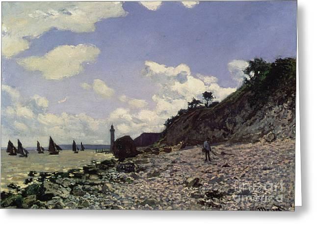 Beach At Honfleur Greeting Card by Claude Monet