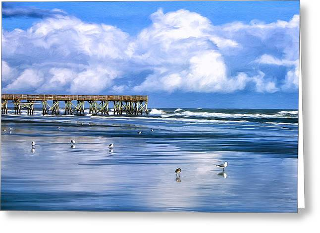 Beach At Isle Of Palms Greeting Card