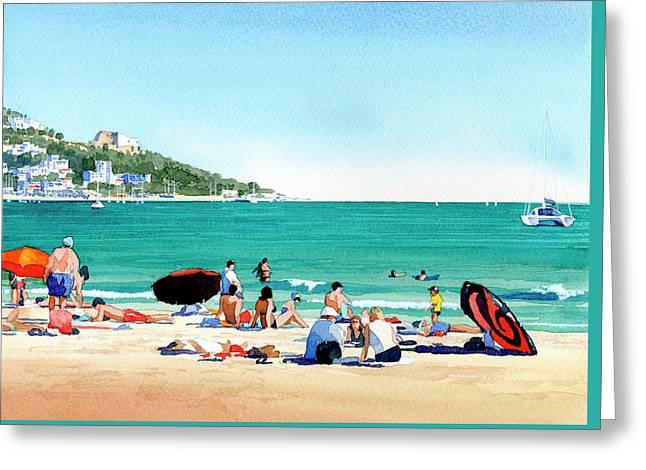Beach At Roses, Spain Greeting Card