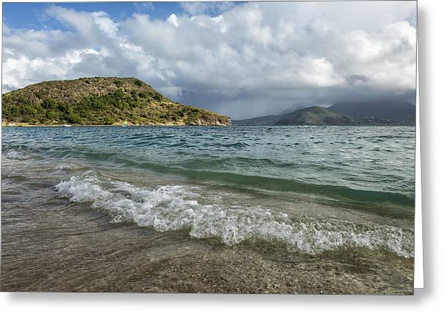 Beach At St. Kitts Greeting Card