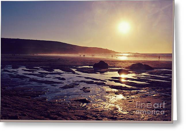 Greeting Card featuring the photograph Beach At Sunset by Lyn Randle
