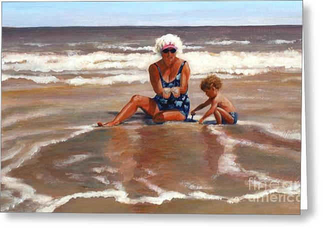 Beach Babes Greeting Card by Pat Burns