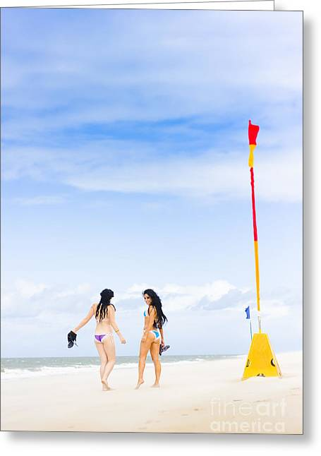 Beach Babes Greeting Card by Jorgo Photography - Wall Art Gallery