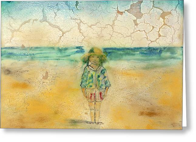 Beach Baby Greeting Card by Kyle Evans