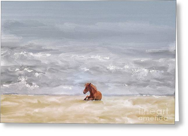 Greeting Card featuring the photograph Beach Baby by Lois Bryan