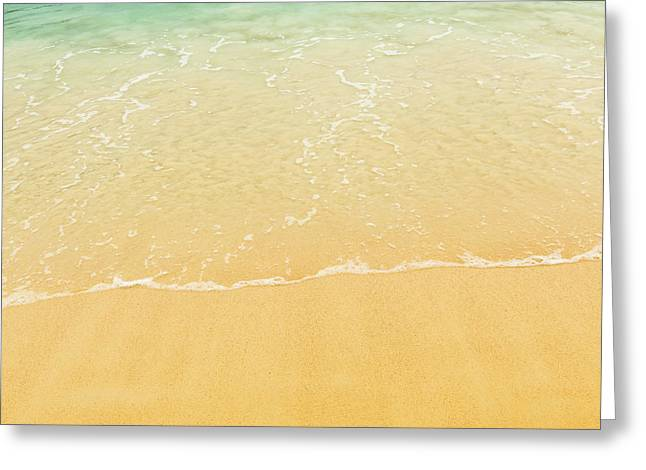 Beach Background Greeting Card by Tim Hester