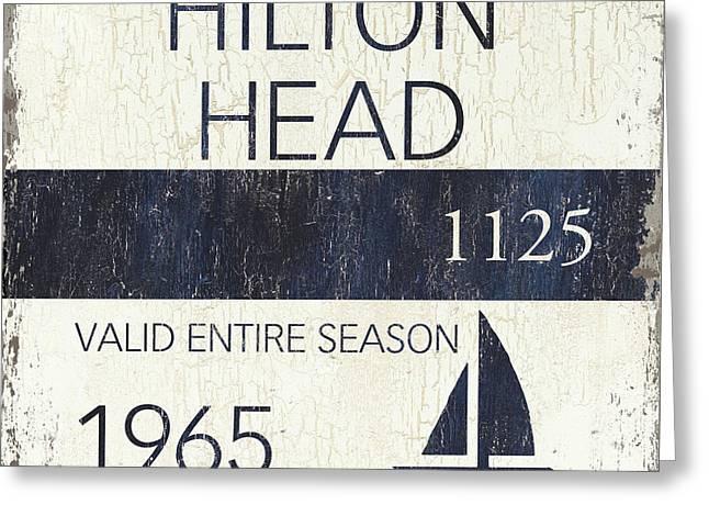 Beach Badge Hilton Head Greeting Card
