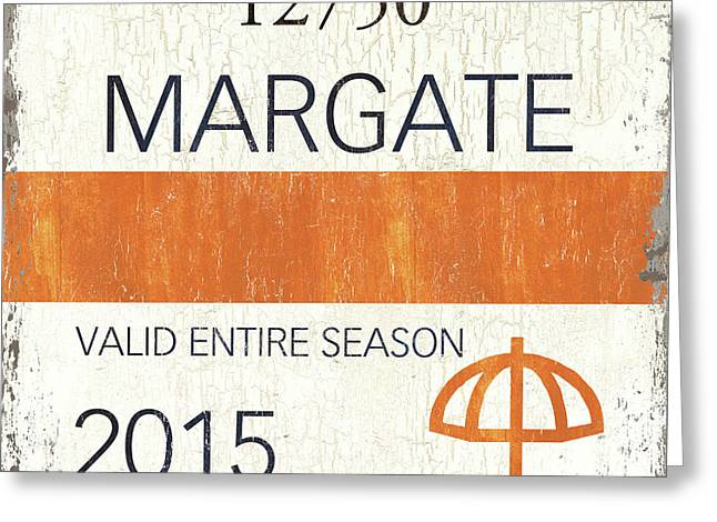 Beach Badge Margate Greeting Card by Debbie DeWitt