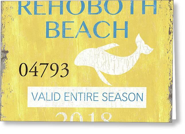 Beach Badge Rehoboth Beach Greeting Card