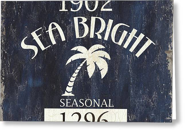 Beach Badge Sea Bright Greeting Card by Debbie DeWitt