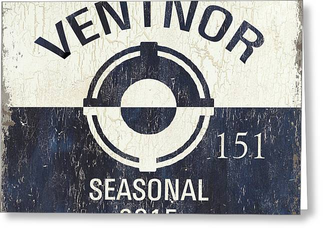 Beach Badge Ventnor Greeting Card by Debbie DeWitt