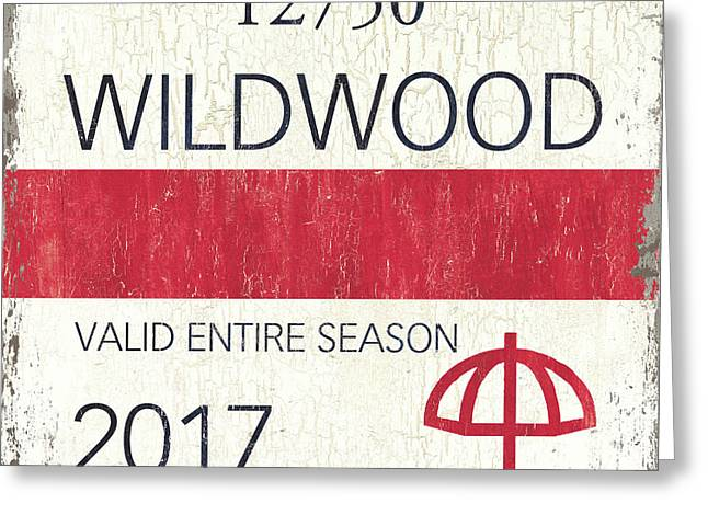 Beach Badge Wildwood 2 Greeting Card