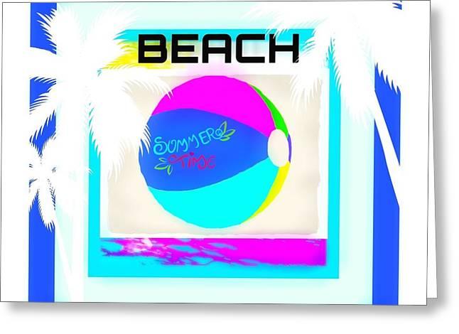 Beach Ball Greeting Card by Shanhan Truitt-Roos