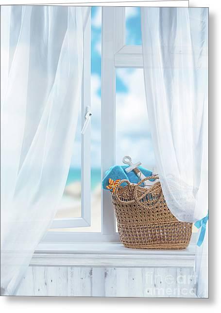 Beach Basket Still Life Greeting Card