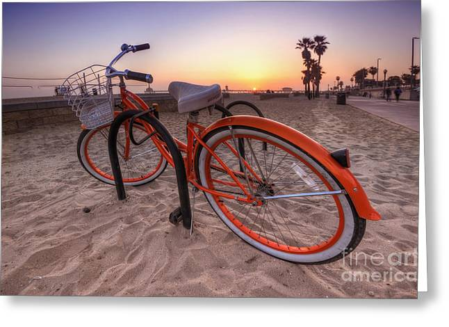 Beach Bike Greeting Card