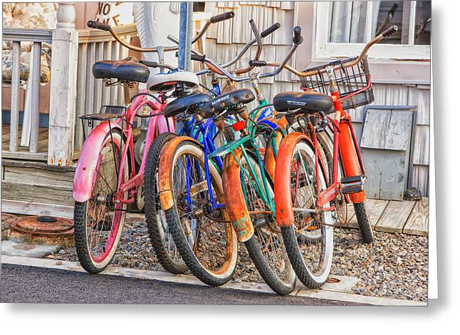 Beach Bikes Greeting Card