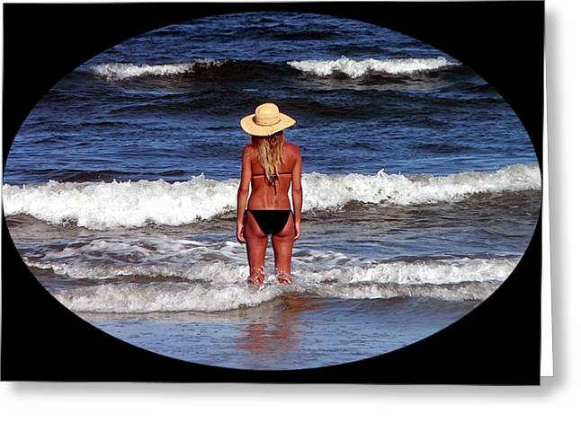 Greeting Card featuring the photograph Beach Blonde .png by Al Powell Photography USA