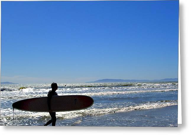 Beach Boy 2 Greeting Card by Robin Hernandez