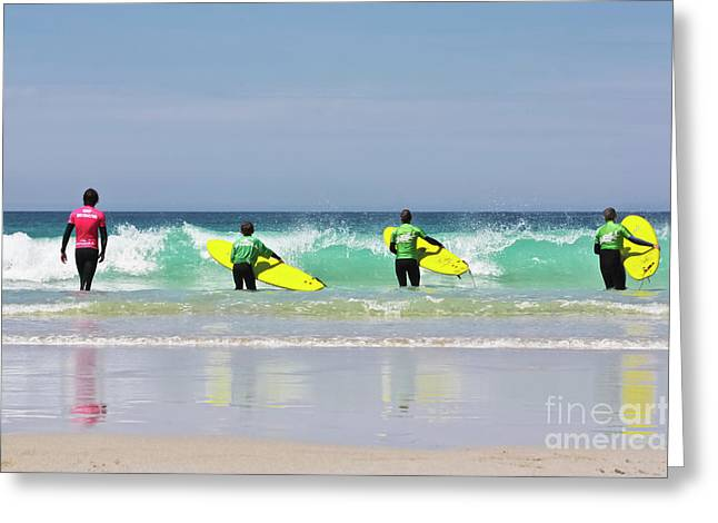 Greeting Card featuring the photograph Beach Boys Go Surfing by Terri Waters