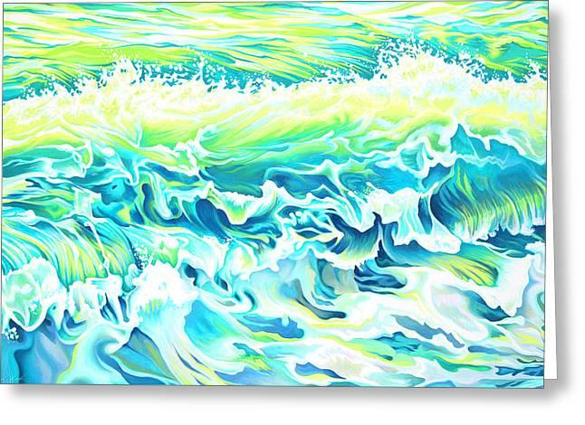 Beach Break Wave Greeting Card