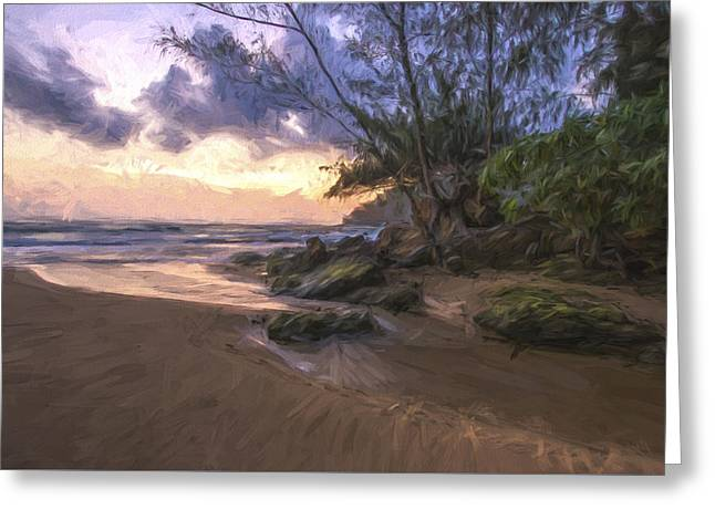 Beach Brilliance II Greeting Card by Jon Glaser
