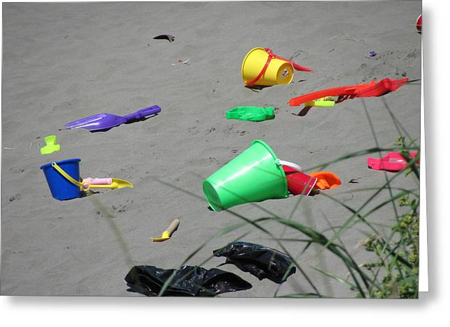 Beach Buckets Greeting Card by Gregory Smith