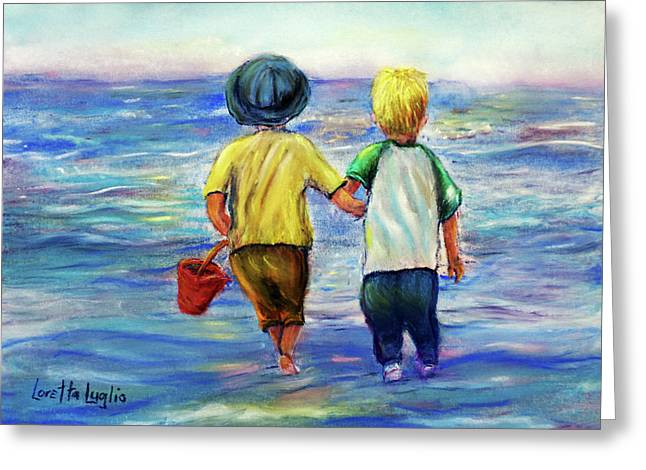 Beach Buddies Greeting Card by Loretta Luglio