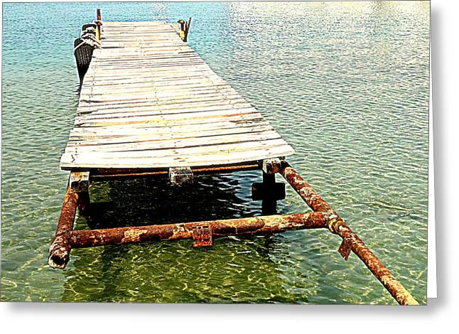 The Old Pier Is Still There, Waiting For You To Come  Greeting Card by Hilde Widerberg