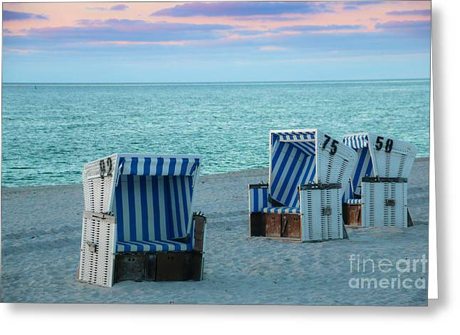 Beach Chair At Sylt, Germany Greeting Card by Amanda Mohler