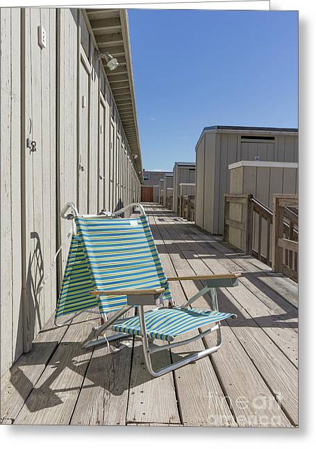 Beach Chair At The Changing Rooms Greeting Card by Edward Fielding