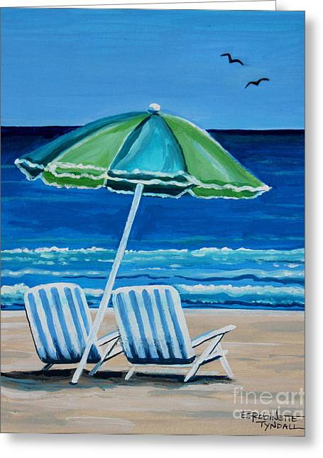 Beach Chair Bliss Greeting Card