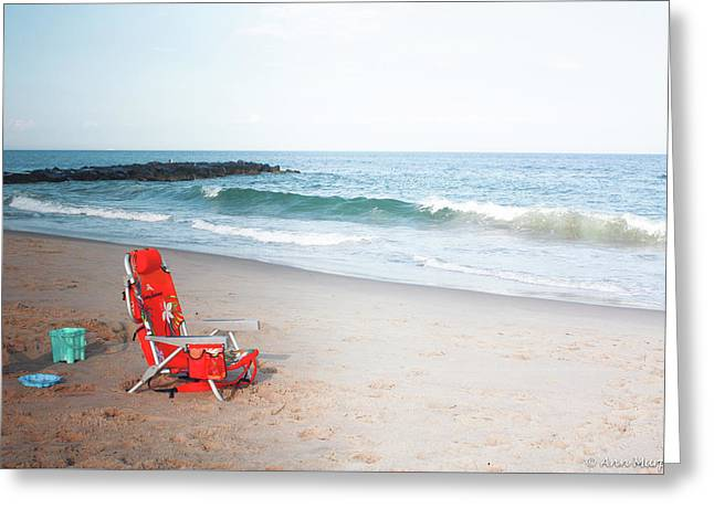 Greeting Card featuring the photograph Beach Chair By The Sea by Ann Murphy
