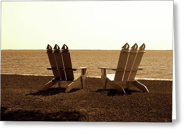 Beach Chairs 2 Greeting Card by Alan Hausenflock