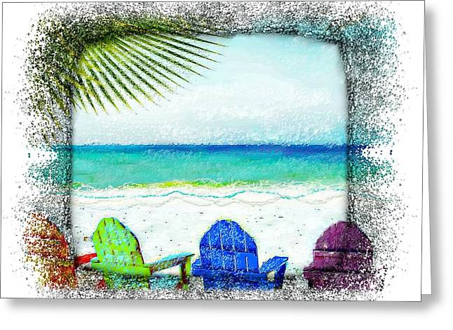 Beach Chairs In Paradise Greeting Card