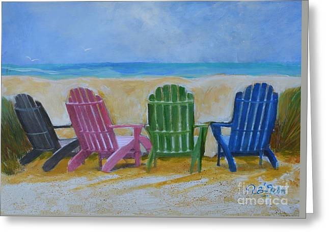 Beach Chairs Greeting Card by To-Tam Gerwe