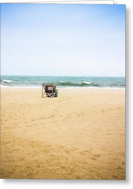 Beach Closed Greeting Card by Colleen Kammerer
