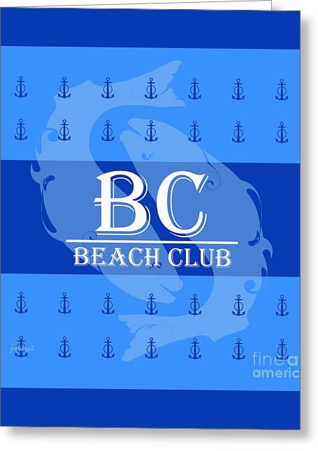 Beach Club 4 Greeting Card