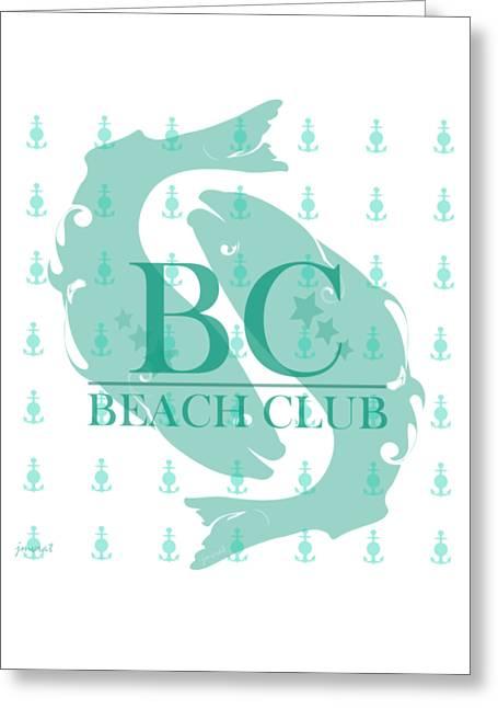 Beach Club 6 Greeting Card