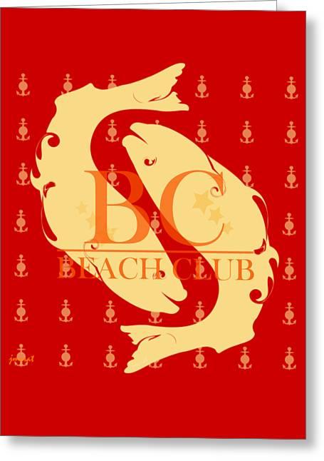 Beach Club 8 Greeting Card