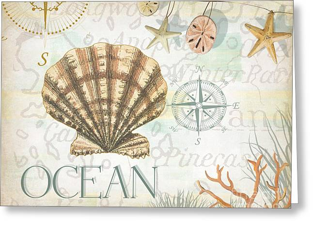 Beach Collage B Greeting Card by Grace Pullen