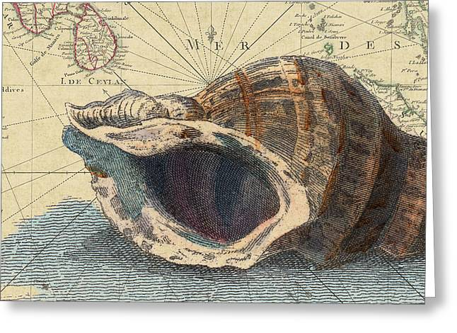 Beach Cottage Sea Shell No. 1 Greeting Card