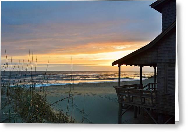 Beach Cottage Sunrise  Greeting Card