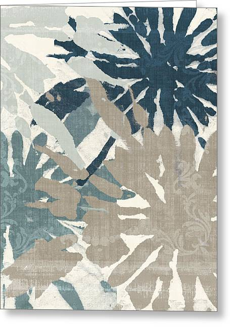 Beach Curry Iv Ikat Greeting Card