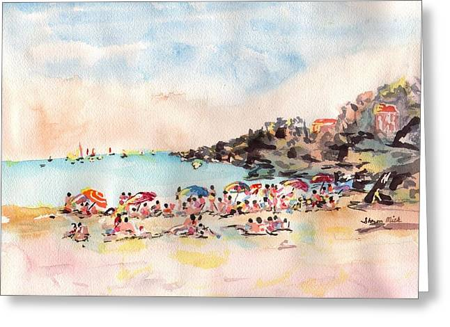 Beach Day At Puerto Vallarta Greeting Card by Sharon Mick