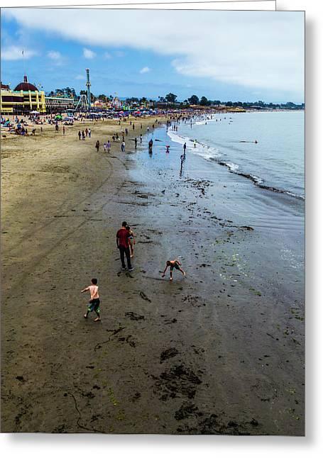 Beach Day Greeting Card by Joe Azevedo