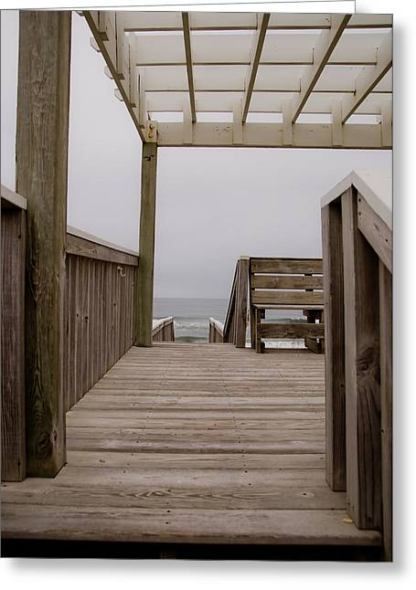 Beach Deck Greeting Card by Patrick  Flynn